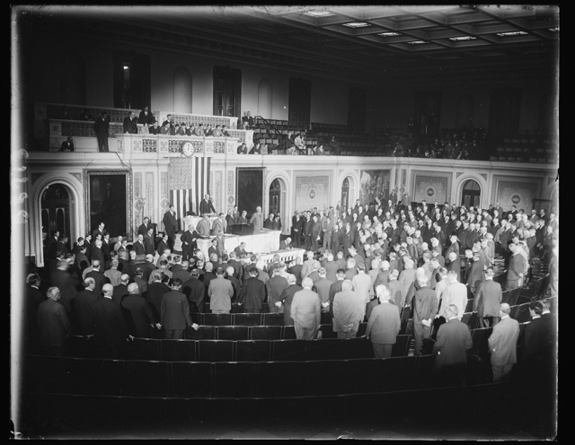 Opening of 71st Congress, Mon.