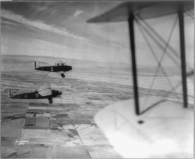 """""""Question Mark"""" plane refueling over Imperial Valley"""