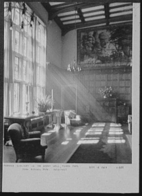 Seventy-one years, or, My life with photography. Morning sunlight in the Great Hall, Tuxedo Park, Sept. 16, 1929