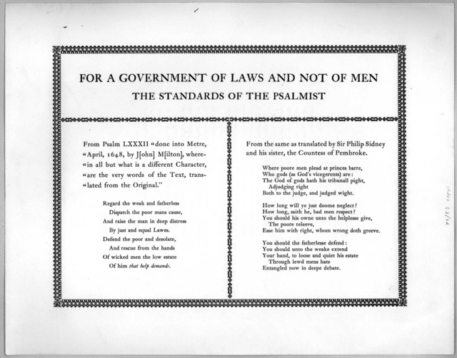 Strawberry Hill, Needham, Massachussets. Christmas 1929. This Christmas I ask my friends to accept with my seasonable good wishes the broadside printed on the reverse of this. It is made up from two little-known versions of Psalm LXXXII: the one