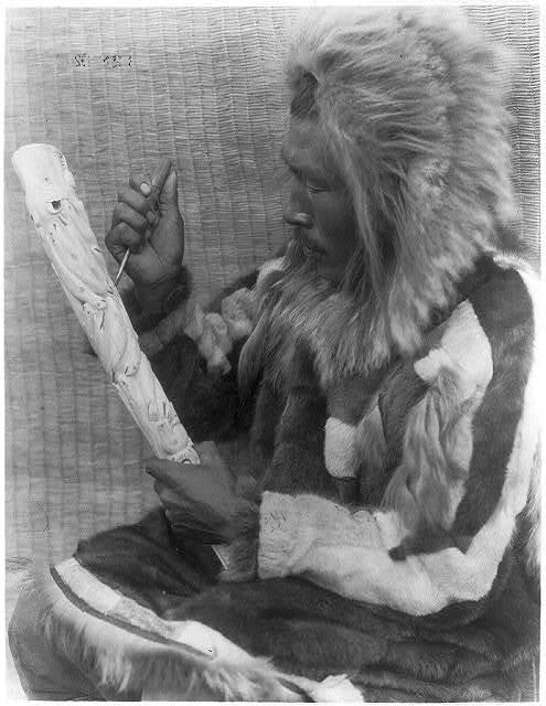 The ivory carver--Nunivak