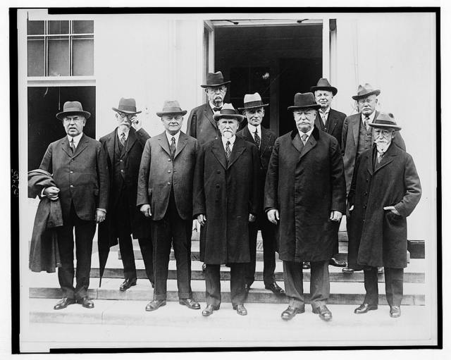 The United States Circuit Court judges who are here for their annual conference, accompanied by Chief Justice William H. Taft, today called on President Coolidge at the White House