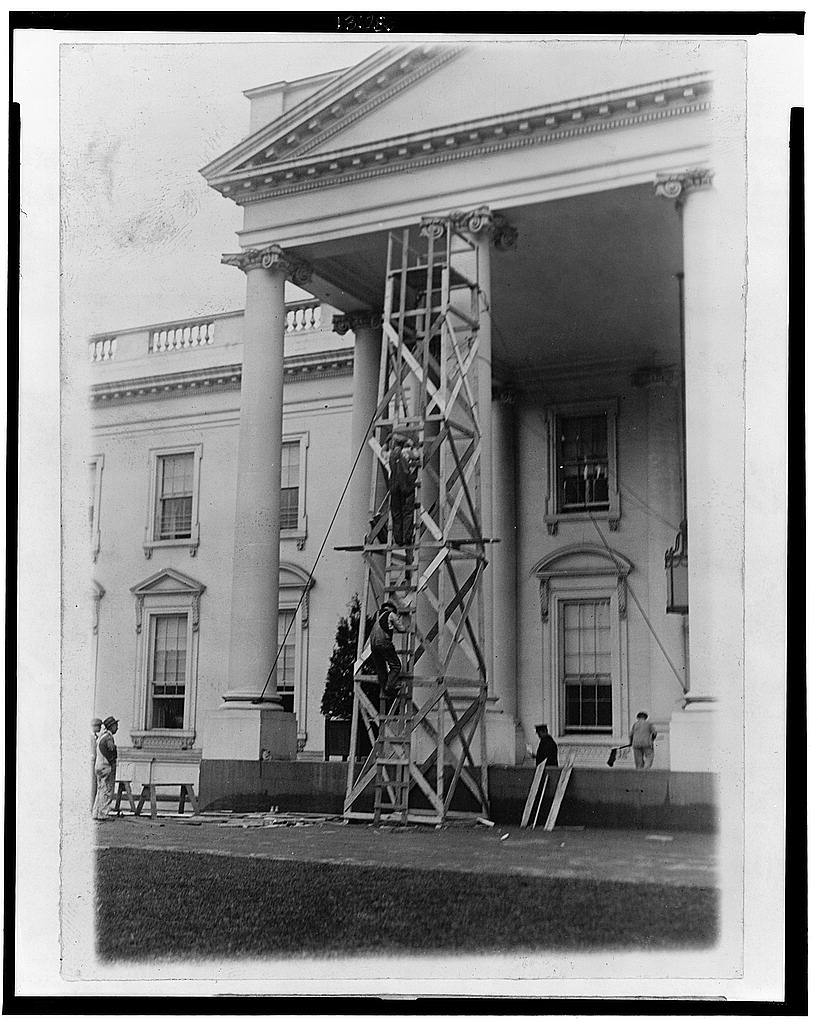 The White House is undergoing its annual inspection and repair