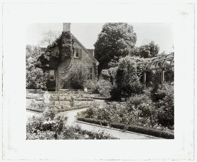 """[""""York Hall,""""  Captain George Preston Blow house, Route 1005 and Main Street, Yorktown, York County, Virginia. Guest house in Memory Garden]"""