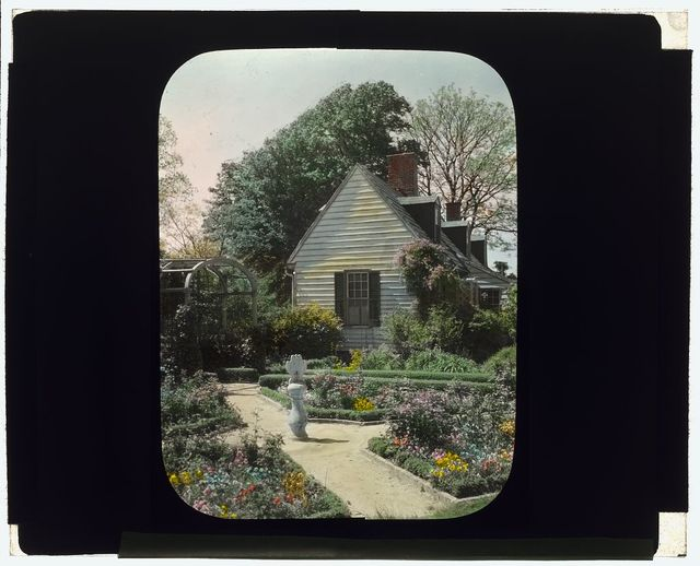 "[""York Hall,""  Captain  George Preston Blow house, Route 1005 and Main Street, Yorktown, Virginia. Gardener's cottage in Memory Garden]"