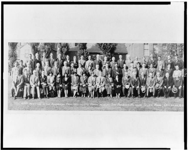 48th meeting of the American Ornithologists' Union held at the Peabody Museum, Salem, Mass., Oct. 21-24, 1930