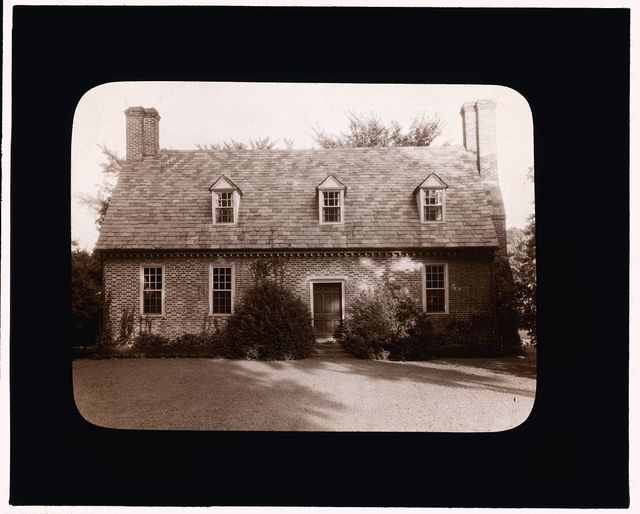 [Adam Thoroughgood House, Norfolk vicinity, Princess Anne County, Virginia. Entrance facade]
