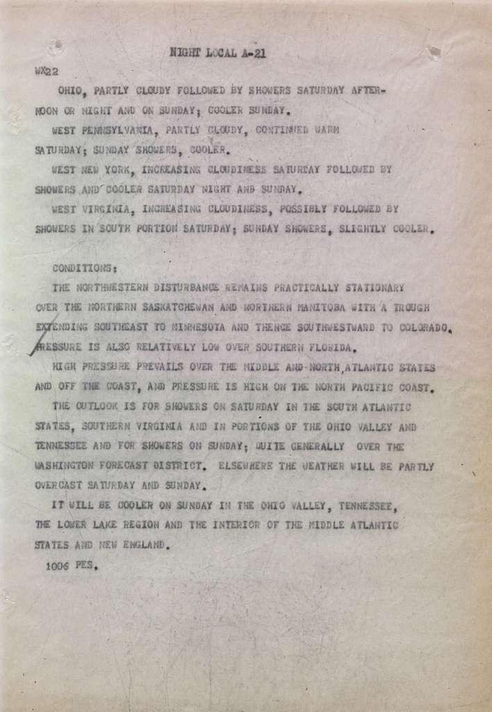 Associated Press, Washington, D.C., Bureau News Dispatches: 1930, June 11-20