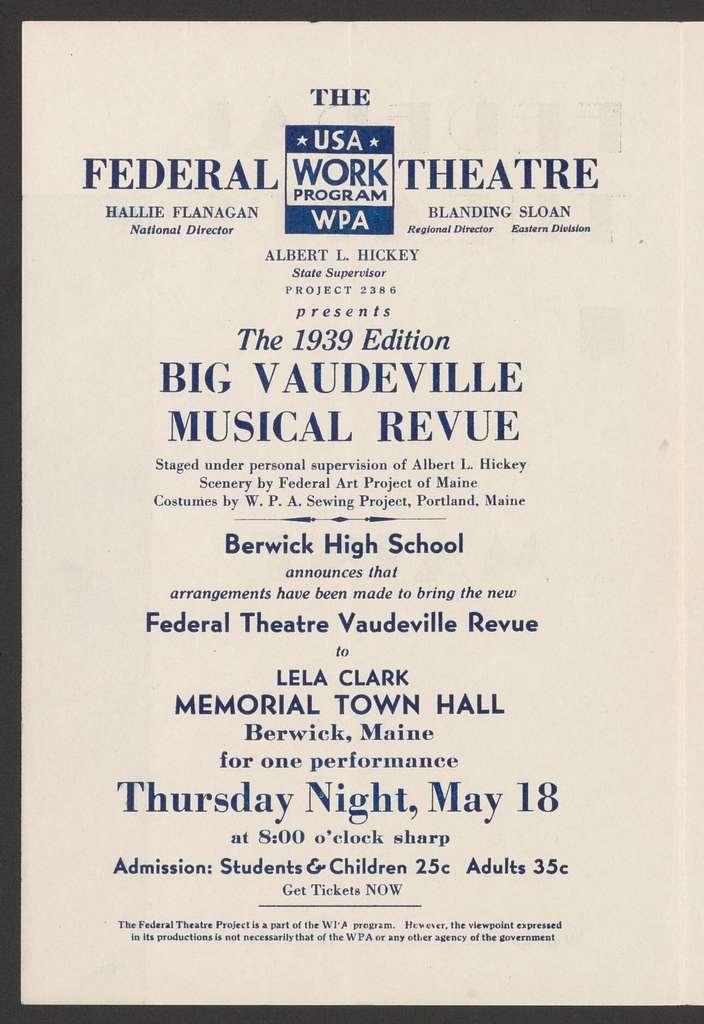 Big Vaudeville Musical Revue