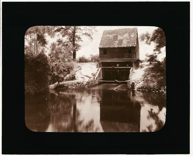 [Drummond Mill, store, and cabin, Lee Mont vicinity, Accomac County, Virginia. River]