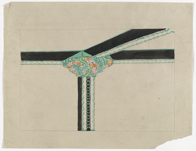 [Floral design for pier, capital, and ceiling]