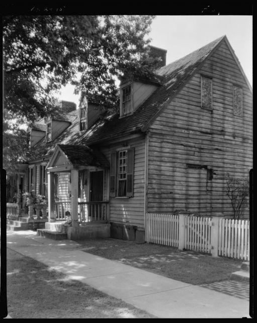Frame houses on Main Street, Fredericksburg, Virginia