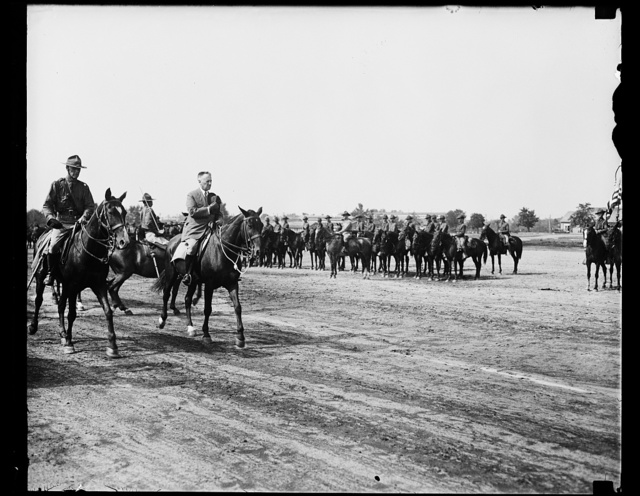[Henry Stimson riding past Cavalry]