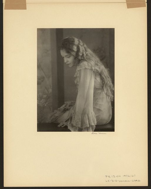 "[Lillian Gish, three-quarter length portrait, sitting, facing left, as Yelena Andreyevna in the 1930 production of ""Uncle Vanya""] / Doris Ulmann."