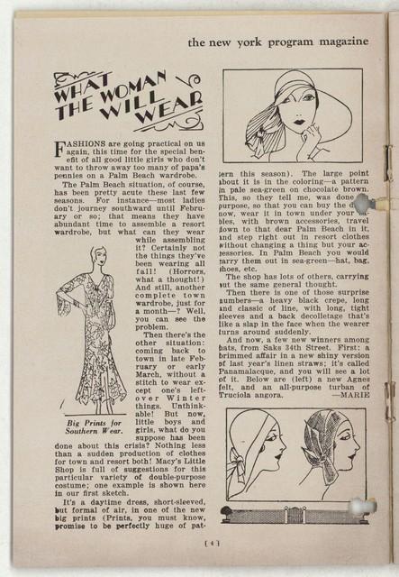 [ Martha Graham, Maxine Elliott's Theatre, January 8, 1930]