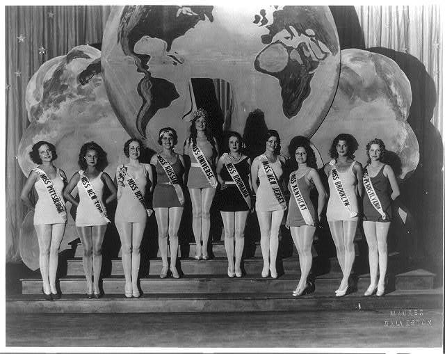 """[""""Miss Universe"""" and a bevy of other beauties]"""