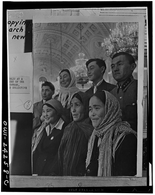 Moscow. USSR (Union of Soviet Socialist Republics). Deputies to the Supreme Soviet in the Kremlin