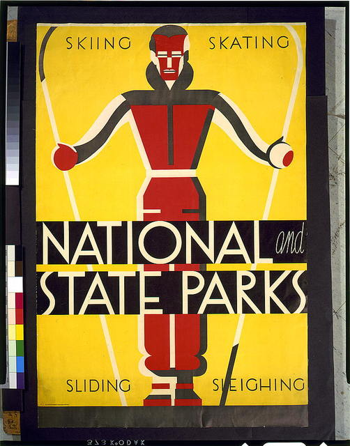 National and state parks, skiing, skating, sliding, sleighing / Dorothy Waugh.