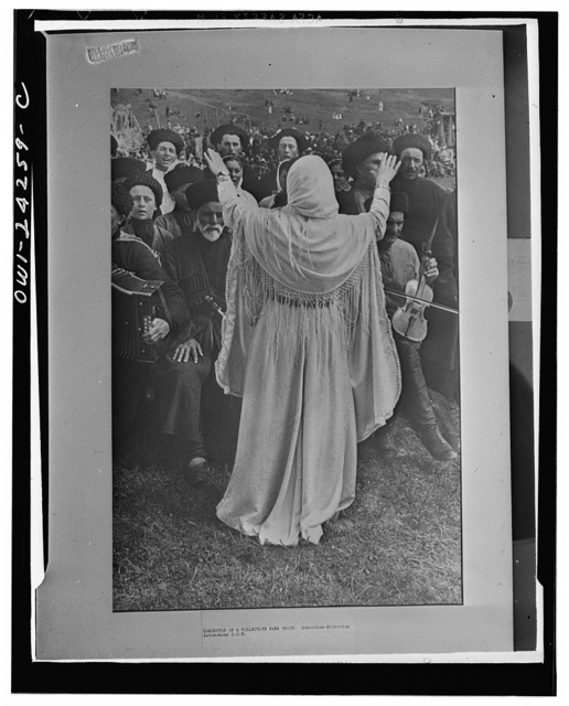 North Caucasus, USSR (Union of Soviet Socialist Republics). Leader of a choir in the USSR (Union of Soviet Socialist Republics)