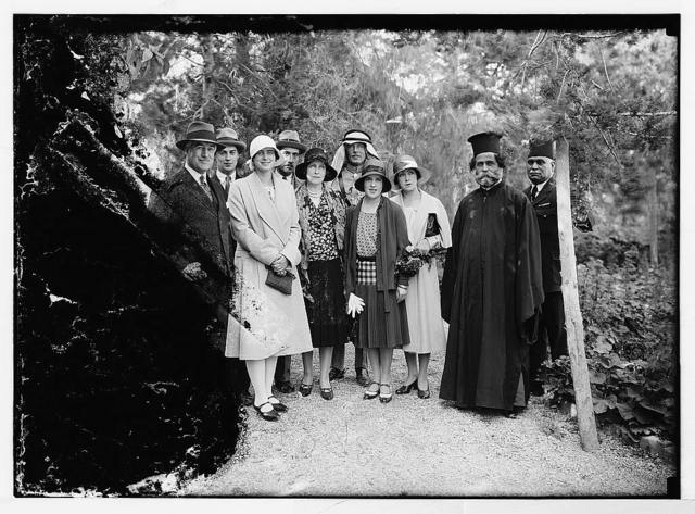 Notable visitors and approx. chronological events since 1930. H.R.H. Princess Ileona of Roumania. A garden group in the residency. April 1930