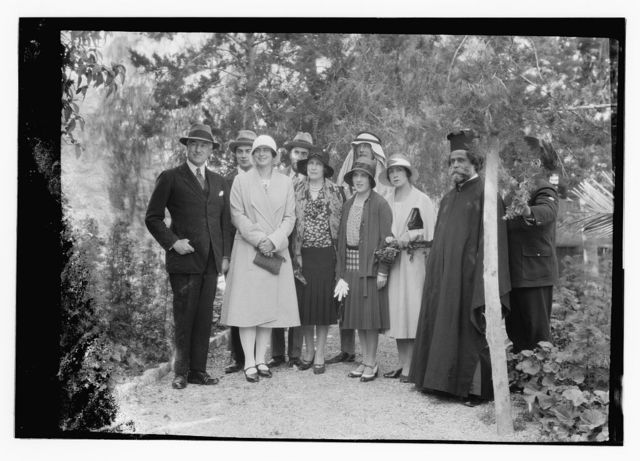 Notable visitors and approx. chronological events since 1930. H.R.H. Princess Ileona of Roumania. A garden group in the residency, April 1930