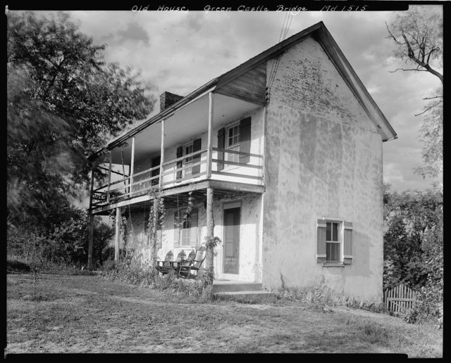 Old House at Green Castle Bridge, Washington County, Maryland