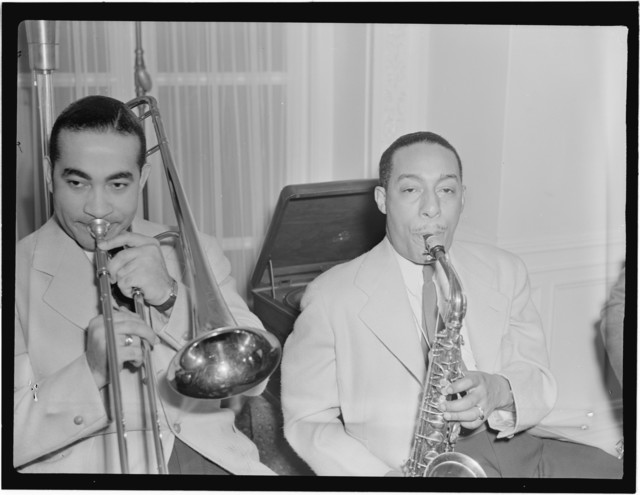 [Portrait of Johnny Hodges and Lawrence Brown, Turkish Embassy, Washington, D.C., 193-]