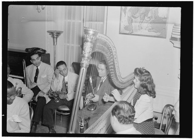 [Portrait of Lawrence Brown, Johnny Hodges, and Adele Girard, Turkish Embassy, Washington, D.C., 193-]
