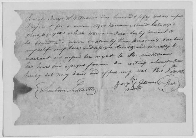 [Receipt for $250.00 as payment for Negro man, January 20, 1840]