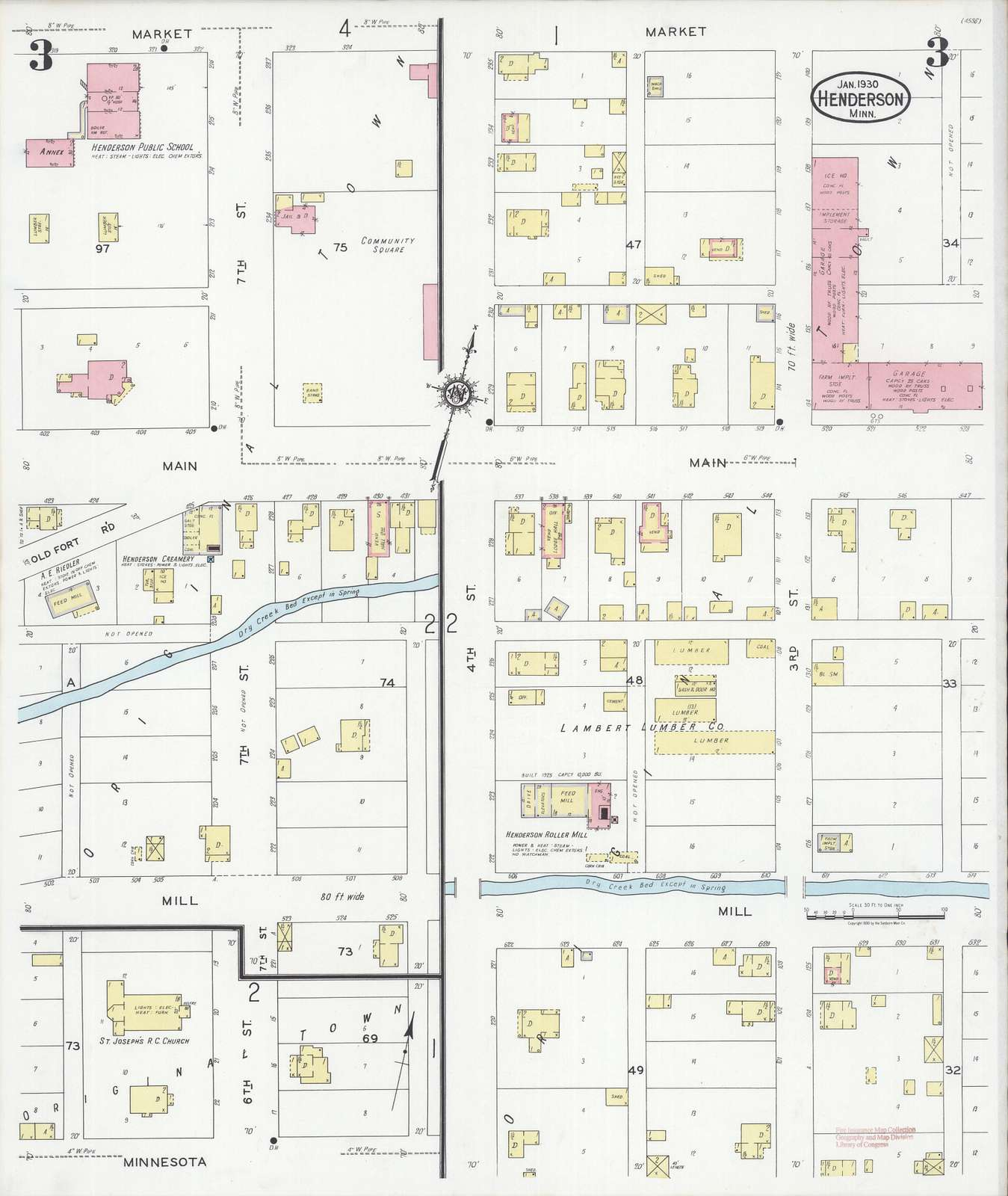 Sanborn Fire Insurance Map from Henderson, Sibley County, Minnesota