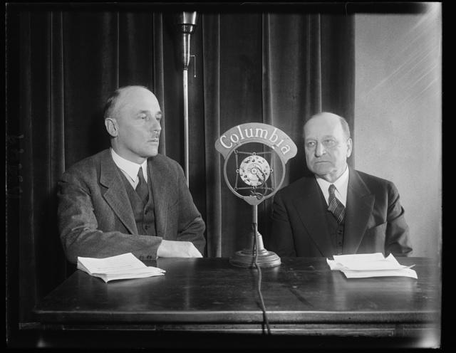 Sen. Henry Allen of Kansas and Polish Ambassador Tytus Filipowiez speak over CBS