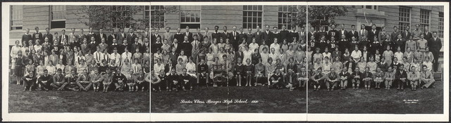 Senior class, Bangor High School, 1930