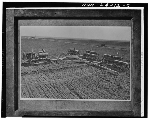 Sowing on a collective farm on the steppes of the Ukraine, USSR (Union of Soviet Socialist Republics)