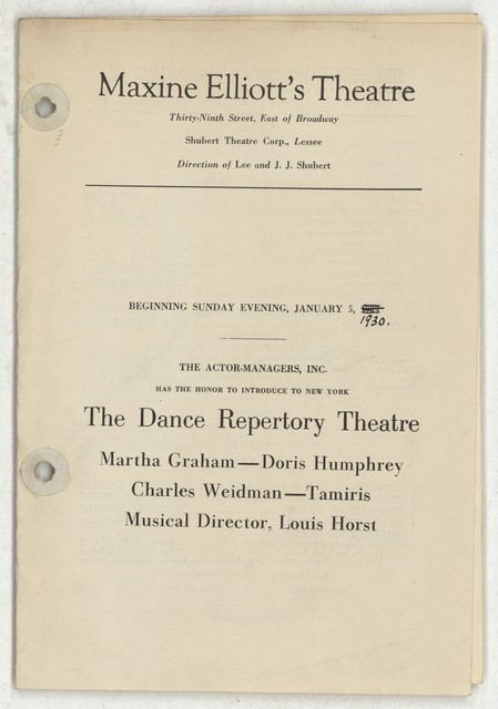 The  Dance Repertory Theatre