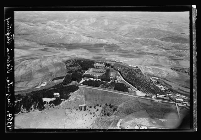 Air views of Palestine. Jerusalem from the air. Various on Scopus and Olivet. Jerusalem. The Augusta Victoria Stiftung. Close to the Olivet road.