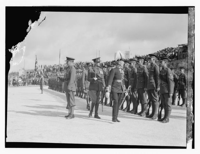 Arrival of Sir Arthur Wauchope as High Commissioner for Palestine, Nov. 20, 1931