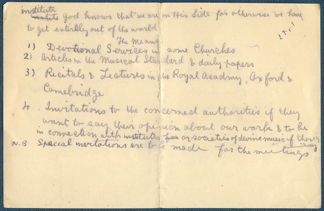 [ Draft: As by the blessings & grace of Our Lord..], ca. 1931