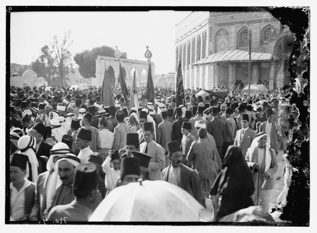 Funeral of King Hussein, Jerusalem, Temple Area