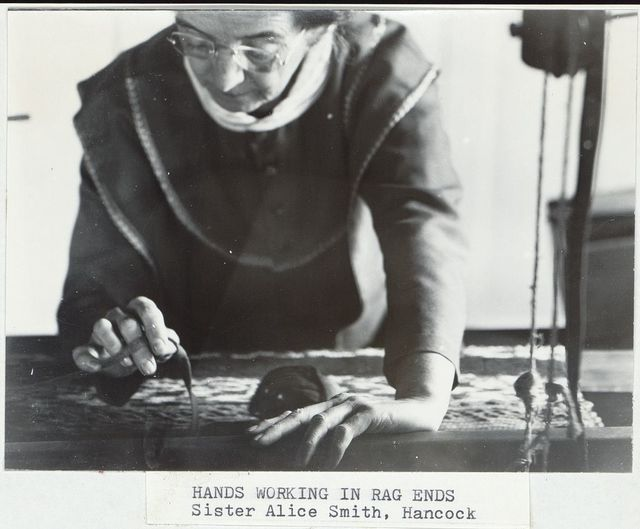 Hands working in rag ends / Samuel Kravitt.