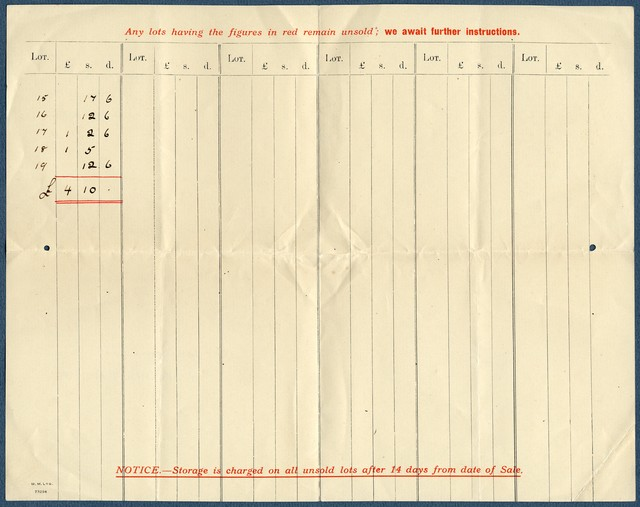 Letter from Puttick & Simpson to Ernest Newlandsmith, November 13, 1931