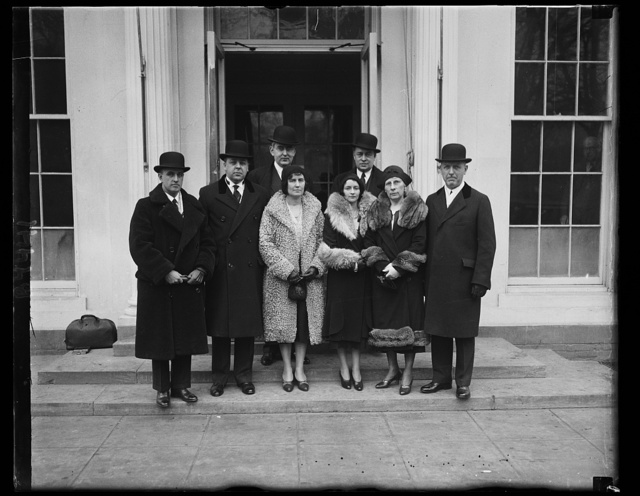 Sen. Arthur W. Vandenberg with Gov. and Mrs. Wilbert M. Brucker of Mich. at White House. 1/26/31