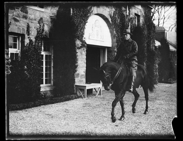 Sen. Tasker Oddie on horseback