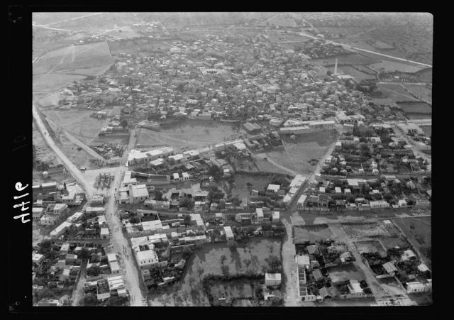 Air views of Palestine. Air route over Cana of Galilee, Nazareth, Plain of Sharon, etc. Lydda. The Palestine R.R. [i.e., Railroad] Junction