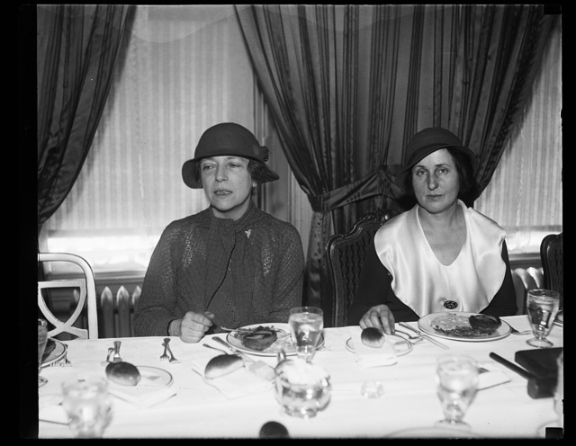 [Alice Roosevelt Longworth, left]