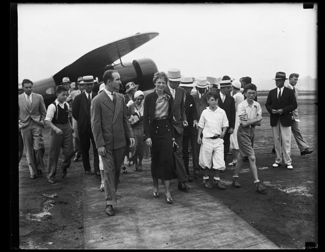 [Amelia Earhart and group]