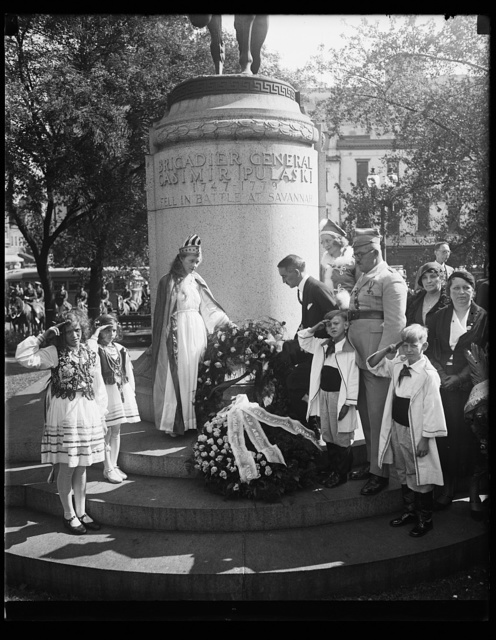 [Ceremony at memorial to Brigadier General Casimir Pulaski]
