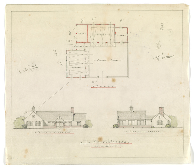 [Dauneport, the Amy E. Dupont estate, Wilmington, Del.  Garages]