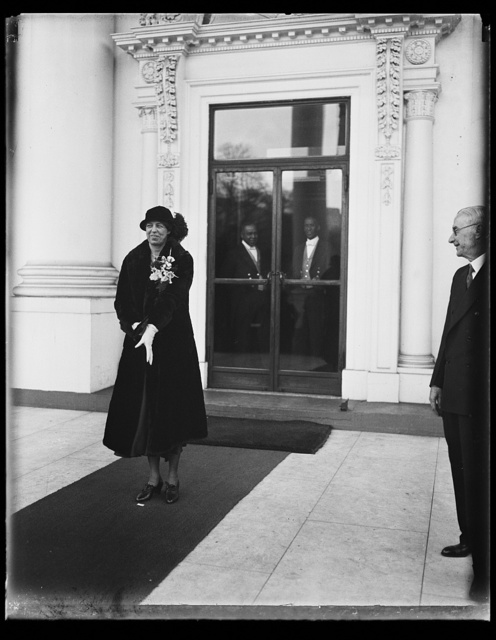 [Eleanor Roosevelt at White House, Washington, D.C.]
