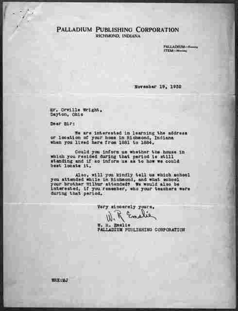 General Correspondence:  Palladium Publishing Corporation, 1932