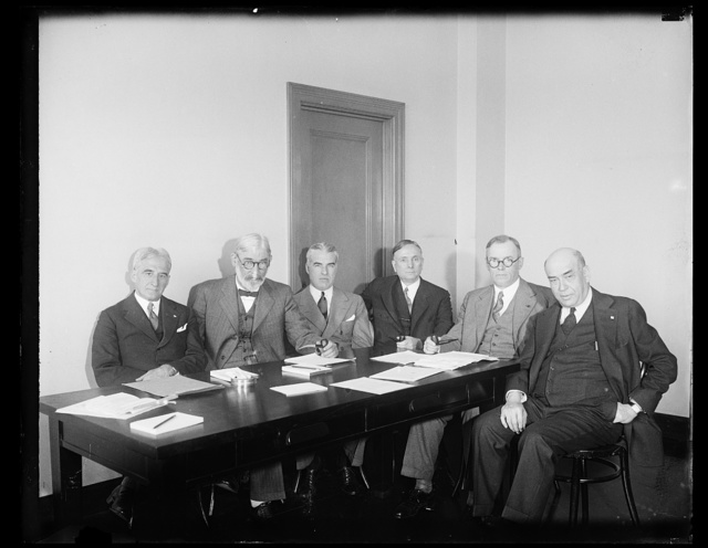 [Group: Edward Stettinius, Jr., 3rd from left]